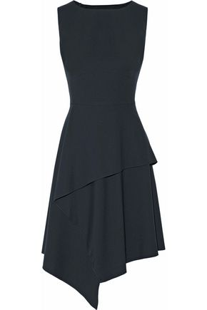 RAOUL Dallas wrap-effect tiered cady dress