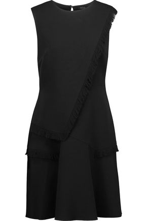 RAOUL Ellery layered fringed crepe mini dress
