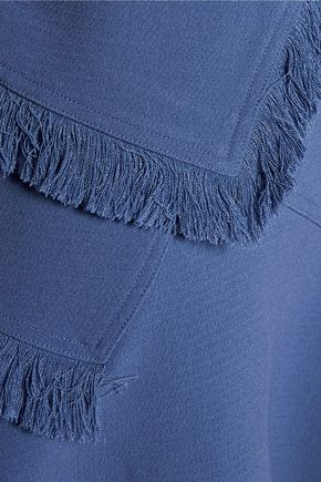 RAOUL Ellery layered fringed crepe mini dress