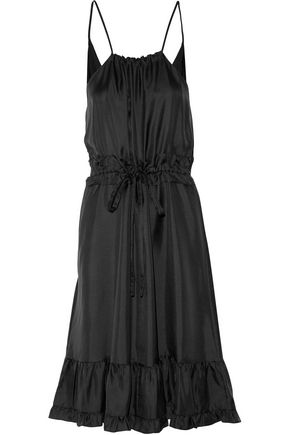 RAOUL Prairie ruffled silk-satin twill dress