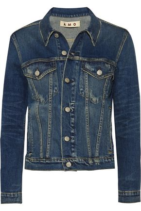 AMO Pop distressed denim jacket