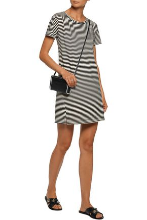 AMO Twist striped cotton-blend mini dress