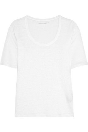 MAJESTIC Stretch-linen jersey T-shirt