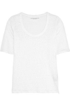 MAJESTIC Stretch-linen jersey T-shirt