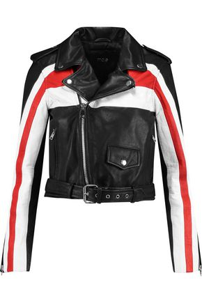 MAJE Textured-leather biker jacket