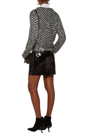 MAJE Mask metallic fringed jacquard-knit jacket