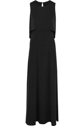 BY MALENE BIRGER Cold-shoulder draped crepe maxi dress