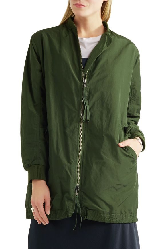 Cotton-blend shell bomber jacket   VINCE.   Sale up to 70% off   THE OUTNET