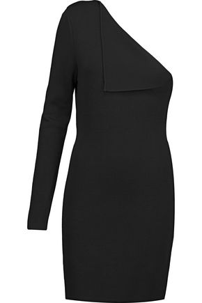 DION LEE One-shoulder stretch-knit dress