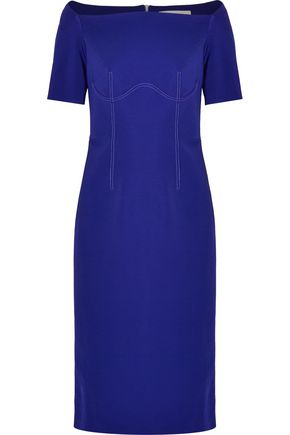 DION LEE Asymmetric stretch-cady midi dress