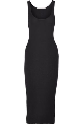 DION LEE Ribbed stretch-jersey midi dress