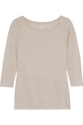 MAJESTIC Linen-blend slub top