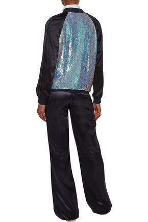 3.1 PHILLIP LIM Sequined silk-satin bomber jacket