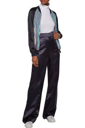 3.1 PHILLIP LIM Sequined silk-satin bomber jacket