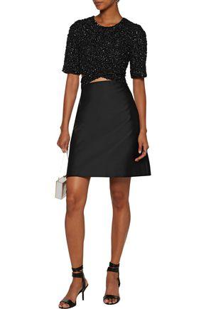 3.1 PHILLIP LIM Sequin-paneled cutout duchesse-satin mini dress