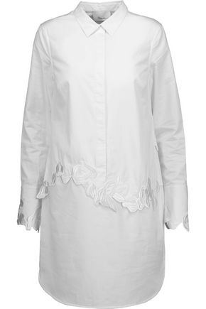 3.1 PHILLIP LIM Embroidered cotton-poplin mini shirt dress