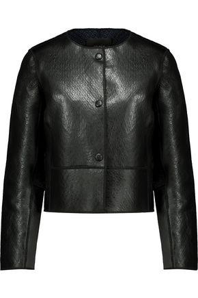 MAJE Bibiane textured-leather jacket