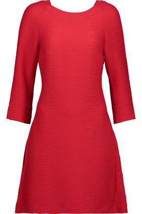 MAJE Bow-detailed textured-crepe mini dress