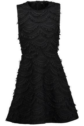 MAJE Tasseled lace mini dress