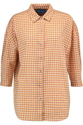 M.I.H JEANS Poets checked cotton-blend shirt