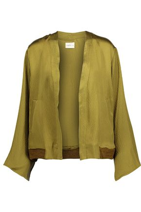 SIMON MILLER Koka textured silk-satin jacket