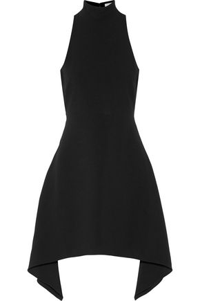 CINQ À SEPT Julia asymmetric cutout crepe mini dress