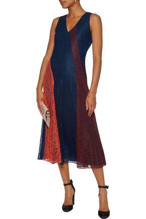 TORY BURCH Iliana paneled corded lace midi dress