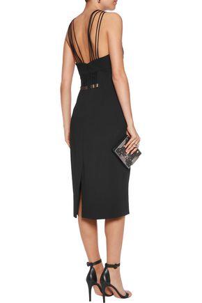 CUSHNIE ET OCHS Embellished stretch-crepe midi dress