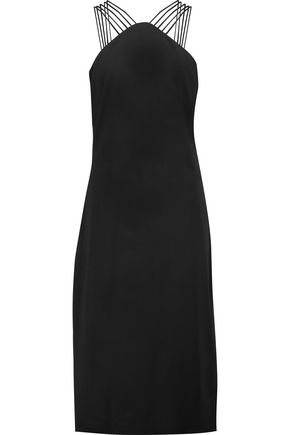 CUSHNIE ET OCHS Embellished stretch-crepe midi dress