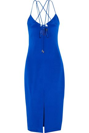 CUSHNIE ET OCHS Courtney cutout silk-crepe dress