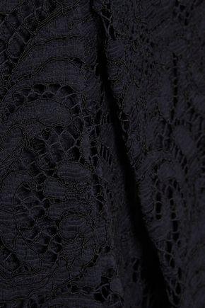 ADAM LIPPES Asymmetric cotton-blend corded lace mini dress