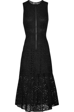 A.L.C. Rollins cutout ruffled guipure lace midi dress
