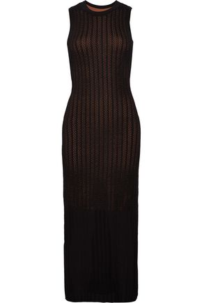 A.L.C. Daphne layered open-knit maxi dress