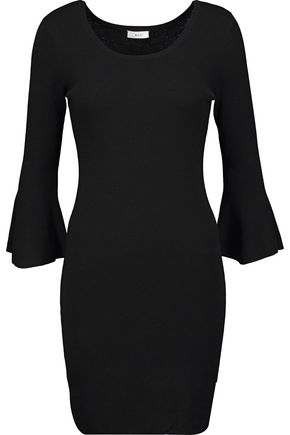 A.L.C. Samara fluted merino wool-blend mini dress