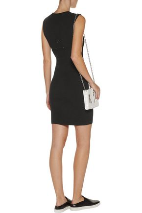 A.L.C. Aviana layer-effect stretch and ribbed-knit mini dress
