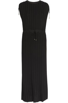 THEORY Kurgan plissé-crepe maxi dress
