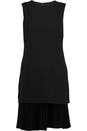 THEORY Malkan layered crepe mini dress