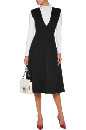 THEORY Zinovin wool and cashmere-blend midi dress