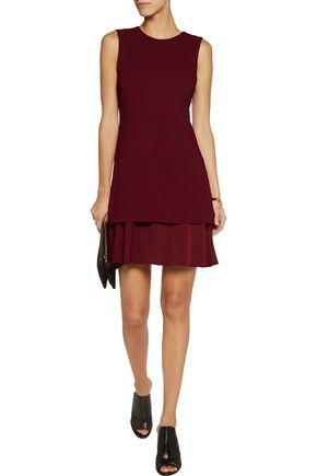 THEORY Malkan layered crepe and satin mini dress