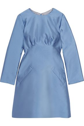 MERCHANT ARCHIVE Satin-twill mini dress