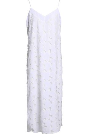 EQUIPMENT Dian embroidered silk midi dress