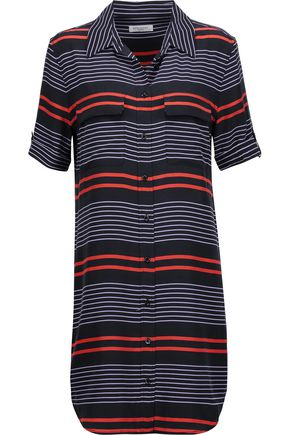 EQUIPMENT Slim Signature striped washed-silk mini dress