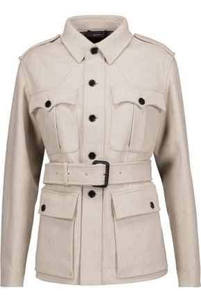JOSEPH Belted wool-blend felt coat