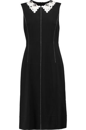 MARC BY MARC JACOBS Appliquéd crepe dress