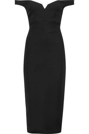 CINQ À SEPT Garnet paneled stretch-crepe midi dress