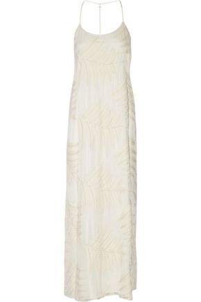 ALICE + OLIVIA Kelly embroidered silk-chiffon maxi dress