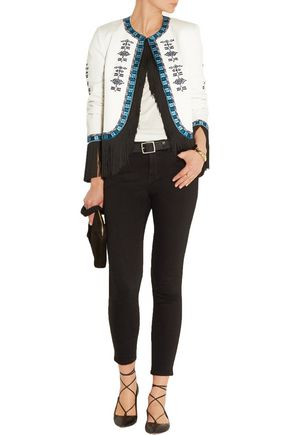 TALITHA Zoe fringed embroidered cotton-twill jacket