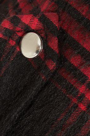 ALEXANDER WANG Plaid cotton-blend vest