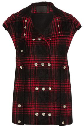 ALEXANDER WANG Plaid cotton-blend vest