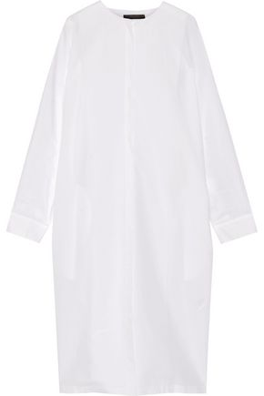 THE ROW Batcan cotton and linen-blend shirt dress